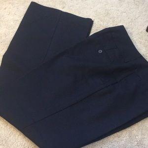 Dana Buchanan blue pants, small front pockets.